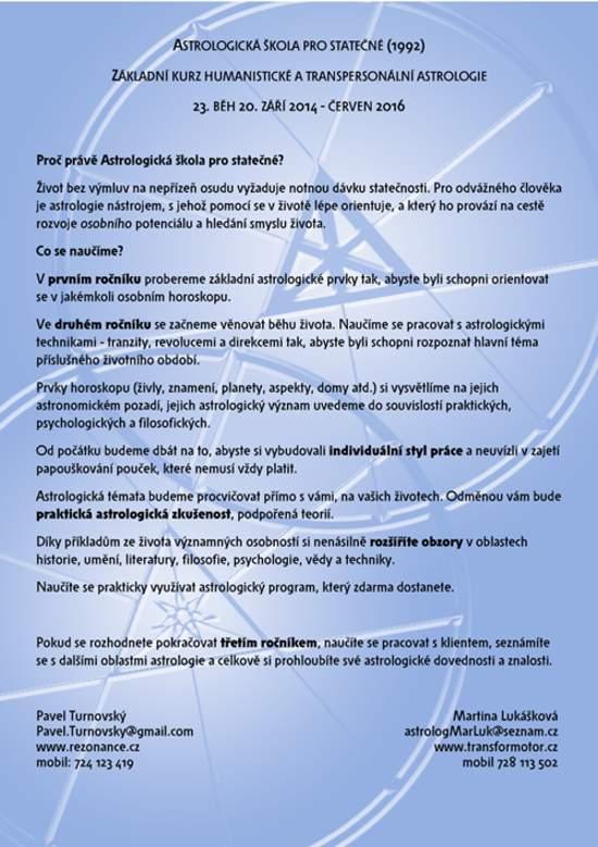 proč kurz astrologie u Astrologické školy pro statečné